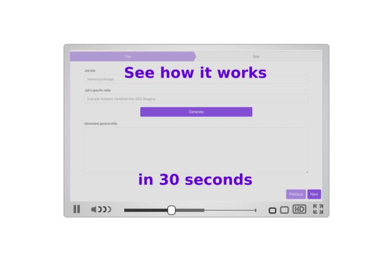 How AI can generate a job description