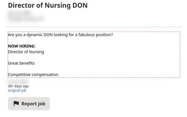 Director of Nursing DON