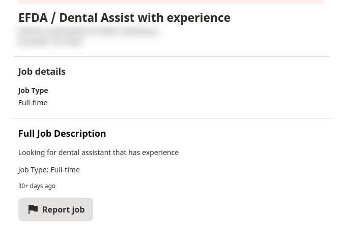 Dental Assist with experience