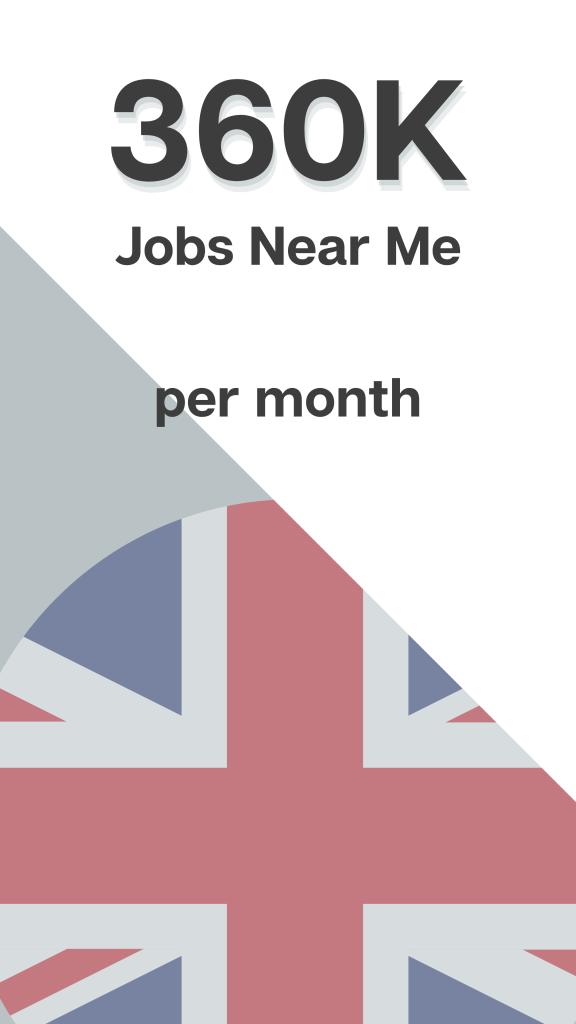Jobs near me - UK Search Volume